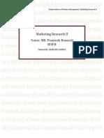 Market Research II (BIMM)