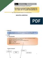 Boletín Logistico Taller Nacional Setiembre 2014
