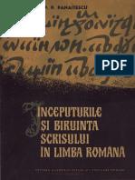 Începuturile şi biruinţa scrisului în limba română.pdf