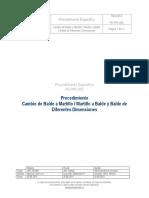 PE-PRY-055 REV.0 Cambio de Balde a Martillo Martillo a Balde y Balde de Diferentes Dimension