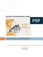 Proceso de pasteurizacion casera. Termodinamica