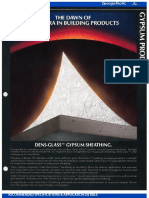Dens-Glass Gypsum Sheathing The Dawn of a New Era in Building Products