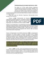 Los Organismo Internacionales en Donde Participa El Perú