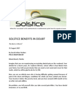 Solstice Healthcare Benefits in Doubt