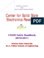CSSER Safety Handbook Center for Solid State Electronics Research