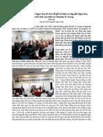 Đại gia đình Nguyễn Ngọc Huy tổ chức lễ giỗ cố Giáo sư Nguyễn Ngọc Huy  và ra mắt sách của Giáo Sư Stephen B. Young