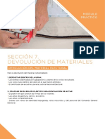 Sección 7 Devolución de Los Materiales