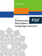 ACTFLPerformance Descriptors