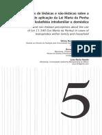 Percepoes de lesbicas e nao lesbcas sobre a possibilidade de aplicacao da lei MP em casos de lesbofobia intrafamiliar e domestica.pdf
