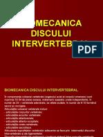 Biomecanica Discului Intervertebral