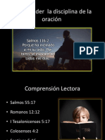 Comprender La Disciplina de La Oración