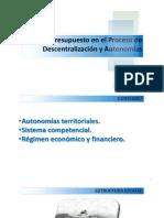 Presupuesto y Descentralización UMSA Resumen POR JAIME DURAN CHUQUIMIA