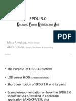 EPDU 3.0 Presentation