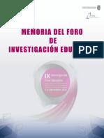 Perfil Lector Memorias IX FIE Marzo 17