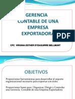Gerencia Contable de La Empresa Exportadora - Taller TRIBUTARIO Ses 2