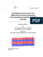 Development of in situ X-ray diffraction and electrochemical characterisation method of LNMO cathodes
