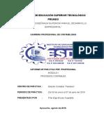 Modelo de Informes de Prácticas Pre Profesionales