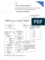 Unidad No 1 Criterios de Análisis de Pre Producción (1)