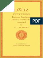 A.J Arberry Fifty Poems of Hafiz 1995