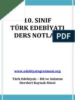 10.SINIF TÜRK EDEBİYATI DERS NOTLARI.pdf