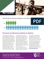 Proyecto Monitoreo Global Medios 2010 (1)MUJERES en MEDIOS