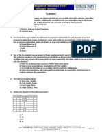 Critical Path - 10 PMP Sample Questions v2