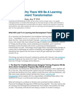 4 Reasons Why There Will Be a Learning and Development Transformation
