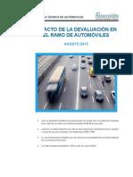 Impacto Devaluacin en El Ramo de Automviles - Septiembre 2015