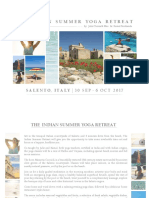 The Indian Summer Yoga Retreat in Salento Brochure