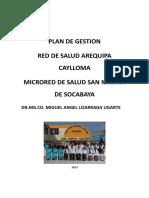 Plan de Gestion Dr. Miguel Lizarraga