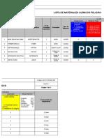 IGC-R-SSOMA-007 Lista de Materiales Químicos Peligros