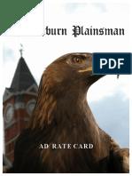 Plainsman Rate Card