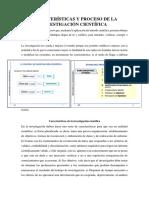 Características y Proceso de La Investigación Cientifica Rebeca