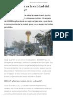¿Qué Tan Mala Es La Calidad Del Aire de Bogotá