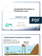 Controlling hydrate formation in production lines