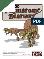 Prehistoric Bestiary (True20)