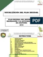Plan Decenal Municipal Anapoima Socialización Plan 2016