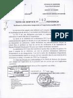 Note 182-MINFI-DGD Instituant La Déclaration Temporaire à l'Exportation Modèle EX9
