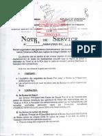 Note 189-MINFI-DGD DU 30 OCT 2009 Portant Organisation Des Opérations d'Acheminement Des Marchandises en Transit Vers Le Tchad Ou La RCA Avec Rupture de Charge à Belabo Ou N'Gaoundéré003