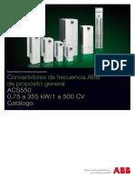 catalogo de variadores de frec abb
