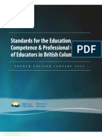standard for the education competence   professional conduct of educators in british columbia