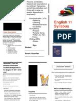 english 11 syllabus