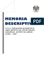 Memoria Descriptiva Canchapilca