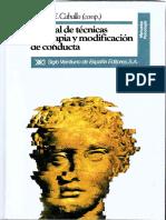 Manual de Tecnicas de Terapia y Modificación de Conducta