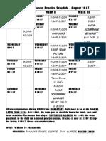 varsity girls soccer practice schedule