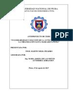 Anteproyecto de Tesis - Vulnerabilidad en La Autoconstruccion Santa Margarita