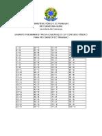 Gabarito+Preliminar prova MPT