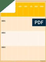 Tabela Plan Semanal. Módulo 2 Aula 1