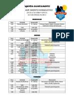 Agenda Campamento Guias 2015
