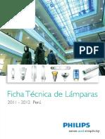 Philips Fichas Tecnicas de Lamparas 2012